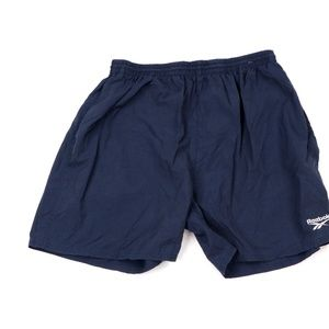 Vintage 90s Reebok Lined Shorts Navy Blue
